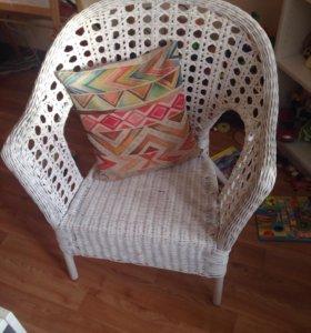 Кресло плетёное