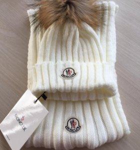 Новый комплект шапка и шарф MONCLER