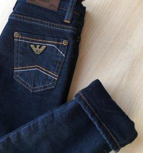 Новые джинсы утеплённые Armani Junior 110 размер