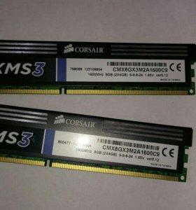 Оперативная память  CORSAIR XMS3 DDR3 - 2 x 4Гб