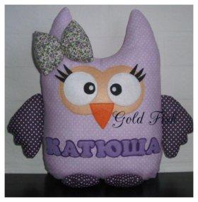 Мягкие игрушки-подушки с именами для детской