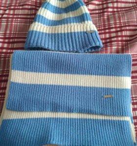Шапка и шарф новые.