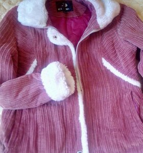 Вельветовая курточка с кармашками