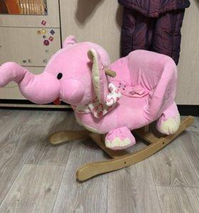Слоник- качалка, состояние нового