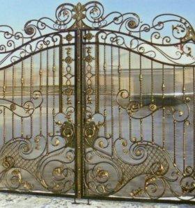 Ворота кованые арт.11