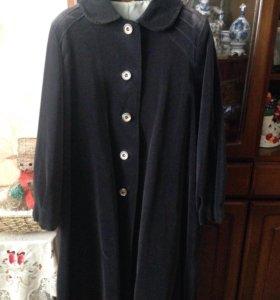 Пальто из велюра р 48-50