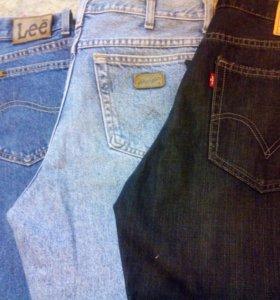 Wrangler,Levis джинсы мужские