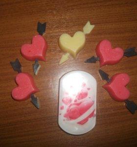Мыло валентинки