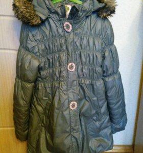 Зимнее пальто для девочки 152 рост