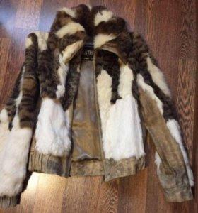 Куртка кожа/кролик