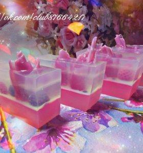 Кусковое мыло с ягодами!