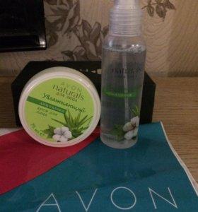 Крем и увлажняющий спрей для лица Avon