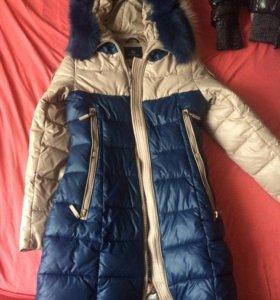 Пальто зимнее стёганное