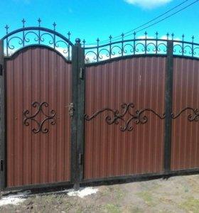 Заборы, ворота, теплицы, ковка, автонавес, кровля.