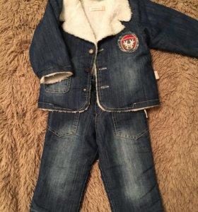 Тёплый костюм детский