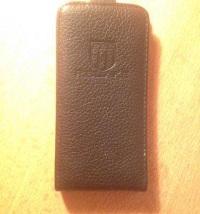 Чехол на Apple iPhone 4s (кожзам)