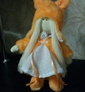 Интерьерная текстильная кукла Девочка - белочка