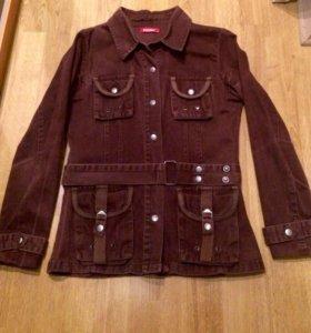 Джинсовый пиджак-ветровка
