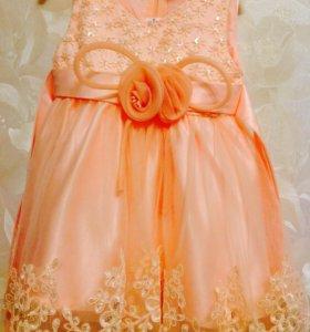 Пышное платье на девочку от 0 до 6 месяцев!