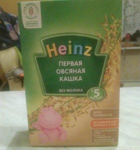 Детская безмолочная овсяная каша Heinz