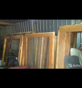Окна двойные, деревянные