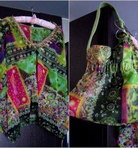 Комплект:блуза и сумка