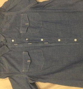 Рубашка х/б под джинсу, 40-42 раз-р