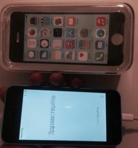 iPhone 5c 8gb blue (с коробкой и инструкцией)