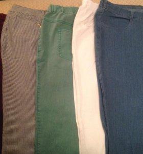 Джинсы брюки бриджи 60-62 размера