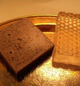 """Набор 2 мыла """"Мед и шоколад"""""""