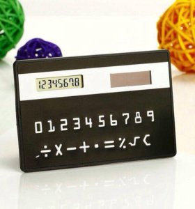 Калькулятор в виде банковской карты.