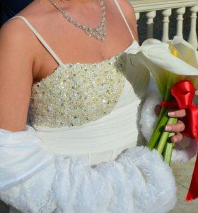 Платье(свадебное)вечернее