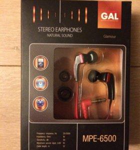 Наушники GAL MPE-6500 новые