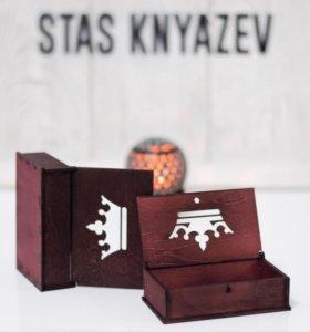 Шкатулка, визитница, коробочка с короной (подарки)