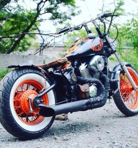 мотоцикл Honda Steed 400 vlx - bobber custom