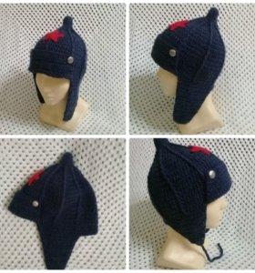 Новая вязаная шапка для мальчика Буденовка