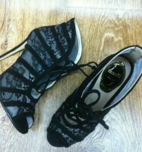 Ботильоны  туфли замшевые
