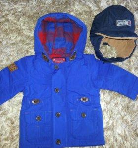 Куртка NEXT на рост 74 см+шапка CARPOLI 52 размер