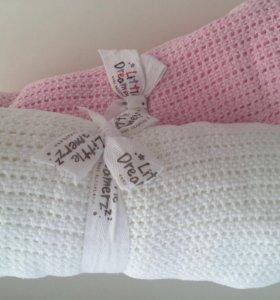 Детские вязанные хлопковые пледы / одеяло