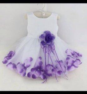 Платье праздничное, р 80-86