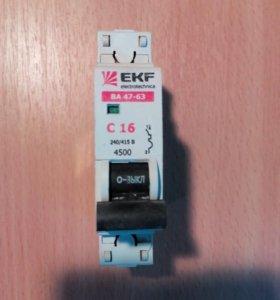 Выключатель автоматический EKF ВА46-63 16А