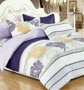 Комплект постельного белья семейный (поплин) новый