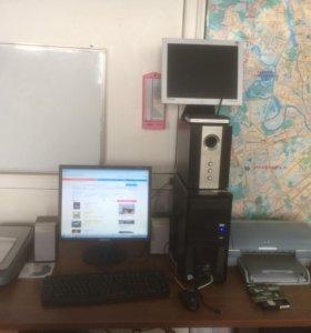 Компьютер, принтер, сканер, Wi-Fi роутер, колонки
