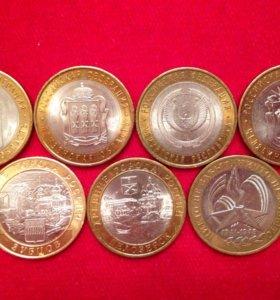 Биметаллические монеты 10р