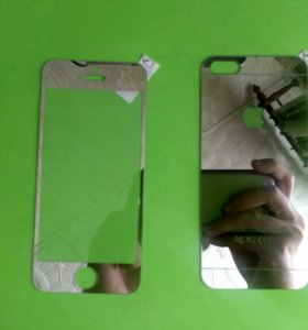 Серебряное стекло для iPhnoe 5S