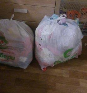 Продам огромный мешок детской одежды от 0-6 месяце