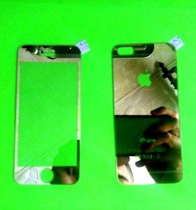 Золотое стекло для iPhone 5S