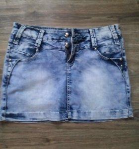 Юбка джинсовый стрейч