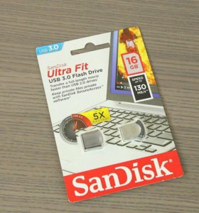 Флешка Sandisk ultra fit usb 3.0 16gb