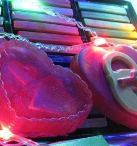 Мыло - Подарочной набор на День Влюбленных!